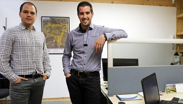 Iñaki Nagore y David Pérez en sus oficinas del CEIN