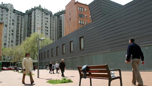 Imagen del centro de salud de San Juan, en Pamplona, donde se pondrá en marcha el programa de detección precoz de cáncer de colon