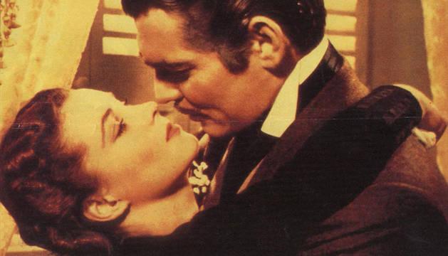 Clarck Gable y Vivien Leigh, en