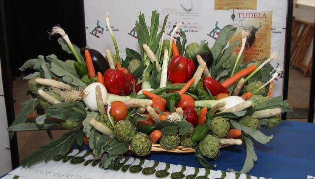 Centro de productos durante la pasada Semana de la Verdura en Tudela