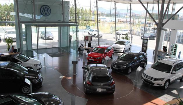 Un concesionario de coches en la Comarca de Pamplona