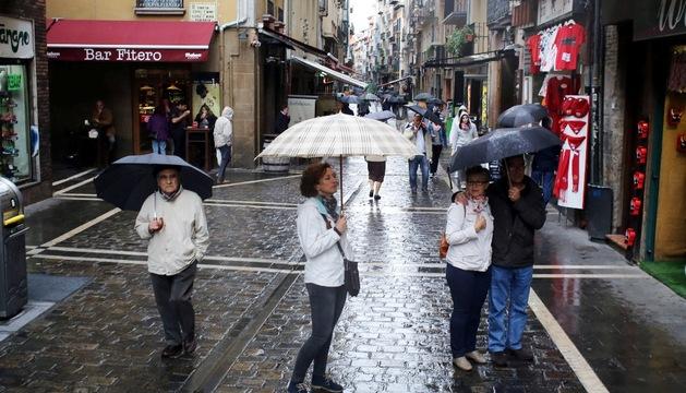 Lluvias en Pamplona en octubre de 2013