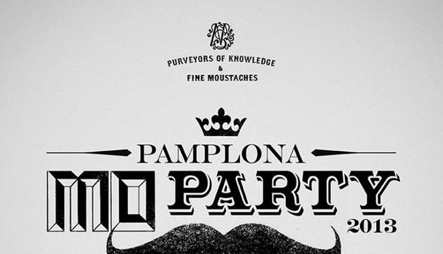 Cartel de la fiesta de Movember en Pamplona.