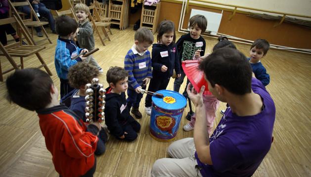 Taller de percusión en la escuela de música Fernando Remacha