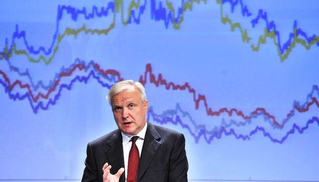 El vicepresidente de la Comisión Europea (CE) y comisario de Asuntos Económicos y Monetarios, Olli Rehn.