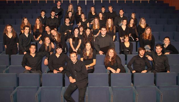 El Coro Juvenil del Orfeón Pamplonés