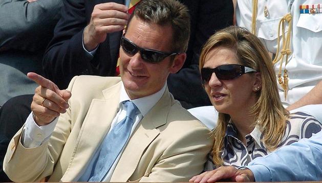 Los duques de Palma, durante la final de Roland Garros del año 2006