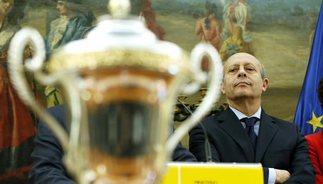 El ministro de Educación, José Ignacio Wert, durante una recepción oficial