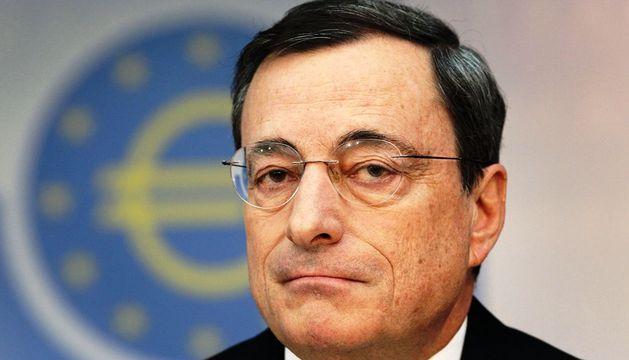 Mario Draghi, presidente del BCE, en la conferencia de prensa de este jueves en Frankfurt.