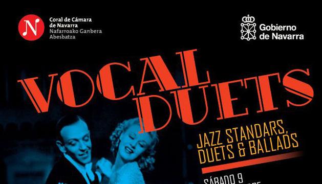 Cartel de la actuación de Vocal Duets en Baluarte