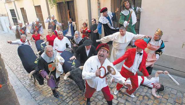 La compañía de teatro tudelana Tertulia.