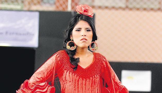 Desfile de trajes de flamenca de la hija de Isabel Pantoja