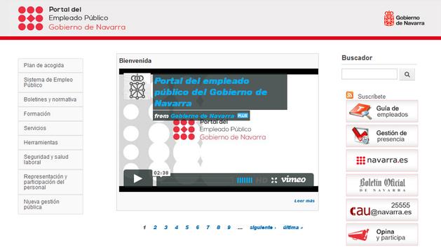 Nueva imagen de la página utilizada por los empleados