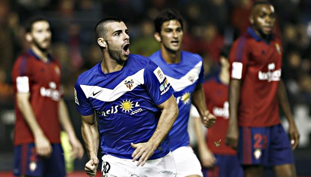 El jugador del Almería, Rodrigo Ríos