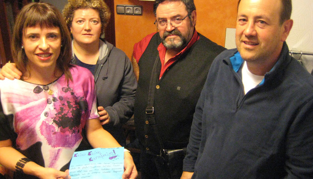 Amaia Aristu Rodríguez, Araceli Cruz Caballero, Teodoro Rodríguez Fidalgo y Alberto Gil Gaztaminza
