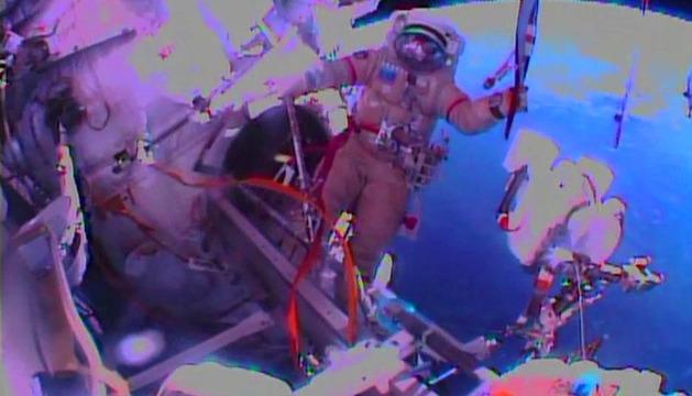 La antorcha olímpica, en el espacio exterior