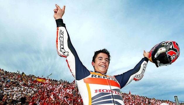 Marc Márquez se ha prclamado este domingo 10 de noviembre campeón del mundo de Moto GP