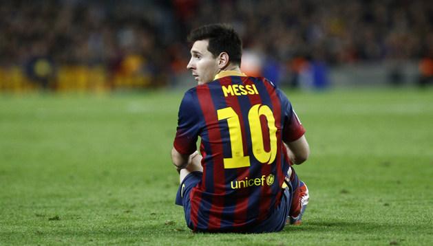 Messi se lesionó ante el Betis