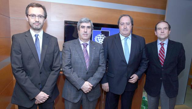 Pablo Sanchís, Miguel Iriberri, Pedro Gil y Fernando Puras