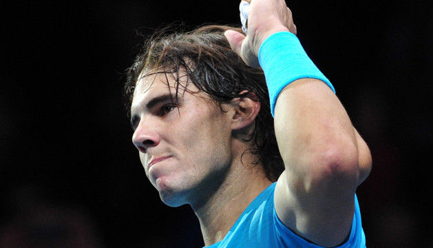 Nadal celebra su triunfo en semifinales ante Federer