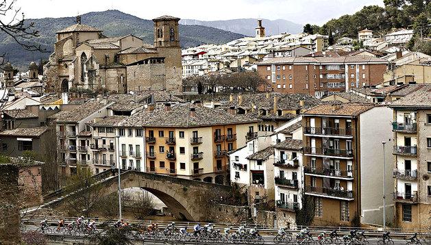 Imagen de tiempo nuboso en Navarra