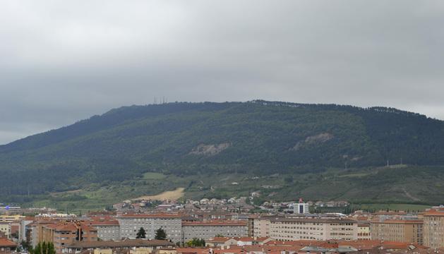 Cielos nubosos sobre el monte San Cristóbal.