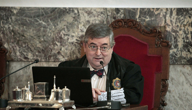Juan Luis Pía, presidente del tribunal que ha juzgado la catástrofe.