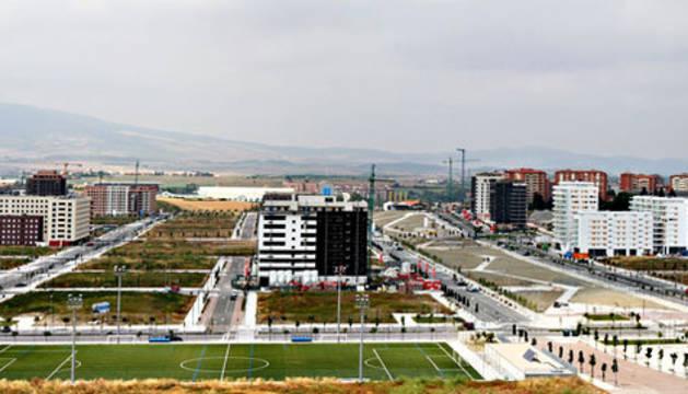 Vista general de la urbanización Arrosadía-Lezkairu, principal desarrollo urbanístico de la capital navarra en estos momentos
