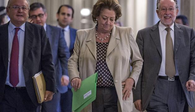 Rita Barberá este viernes, antes de la rueda de prensa en la que presentó presupuestos