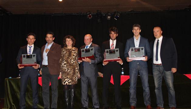 Participantes y premiados en el acto en Tafalla