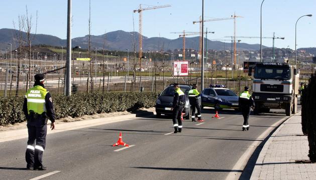 Uno de los controles hechos por la Policía Municipal en 2013