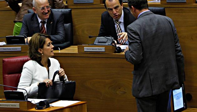 Yolanda Barcina en el Parlamento