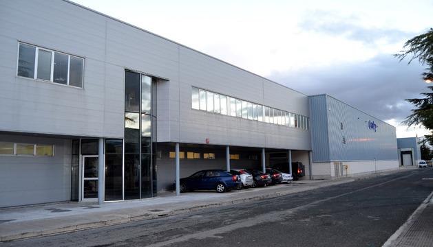 Imagen de la entrada principal de la planta de San Adrián.