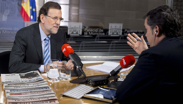 El presidente del Gobierno, Mariano Rajoy, durante una entrevista en