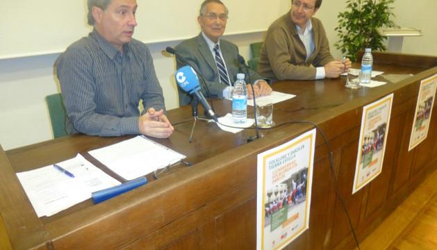 Juan Karlos Ornat, Félix Alfaro y Asier Barandiarán, en Fray Diego