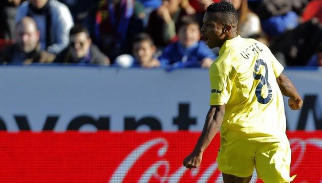 Uche celebra su gol ante el Levante