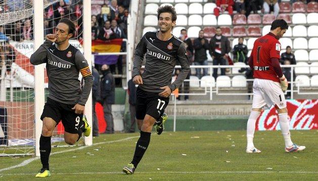 Sergio García celebra uno de sus tres tantos