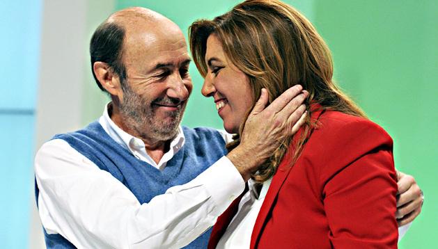 Rubalcaba, con Susana Díaz