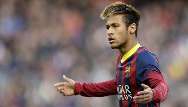 Neymar, durante el partido ante el Granada