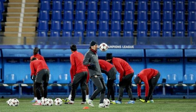 Simeone, en el entrenamiento en San Petersburgo