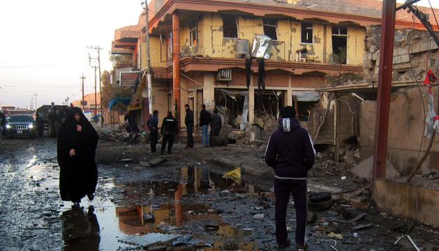 Al menos nueve personas murieron este sábado en un atentado en Tuz Khurmato.