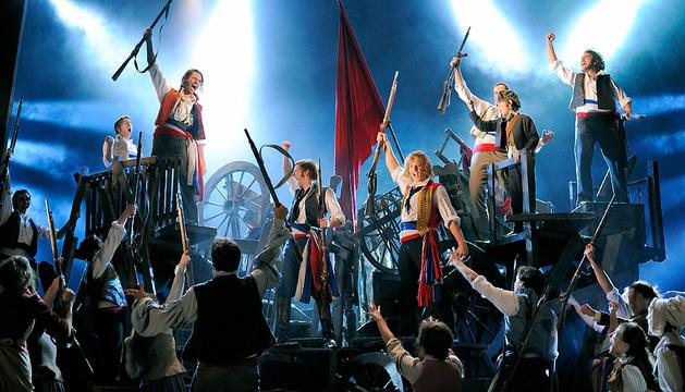 La mítica escena de las barricadas, en el musical de `Los Miserables´.