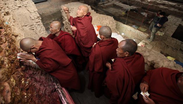 El Jardín Sagrado de Lumbini, en Nepal, fue identificado hace tiempo como el lugar de nacimiento de Buda