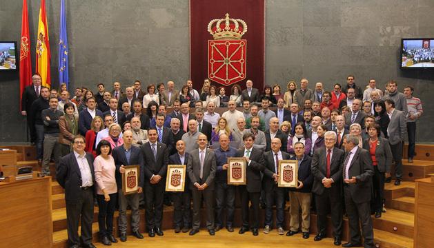 Representantes de la Economía Social junto a los parlamentarios