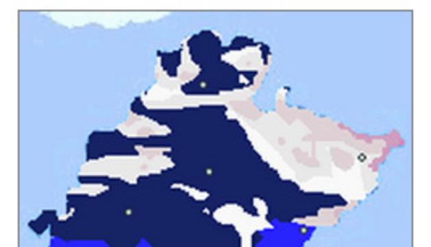 Mapa con las temperaturas de las 7.10 horas.
