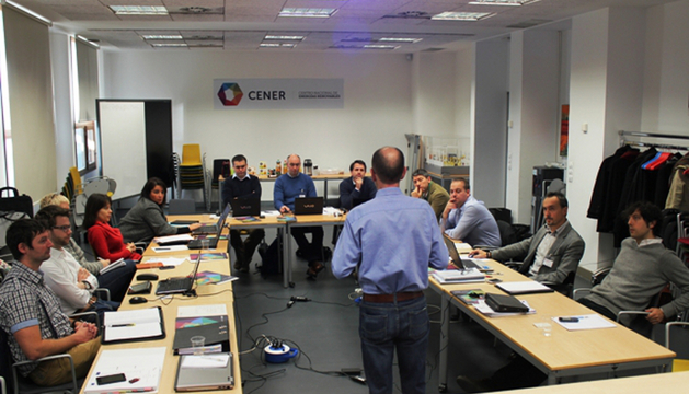 Participantes de la reunión del proyecto Batterie, en Cener