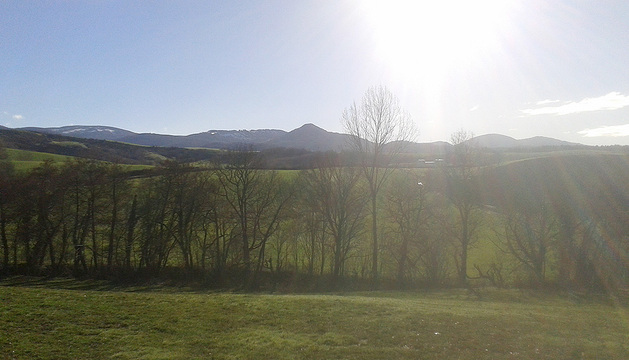 Cielos despejados y frío en Navarra.