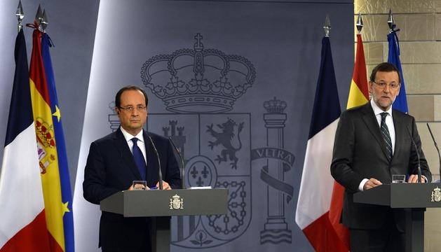 El presidente del Gobierno, Mariano Rajoy y su homólogo francés, François Hollande, durante la rueda de prensa de este miércoles