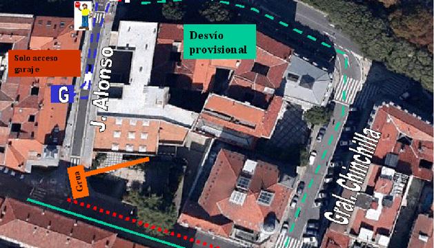 Plano de la zona afectada.