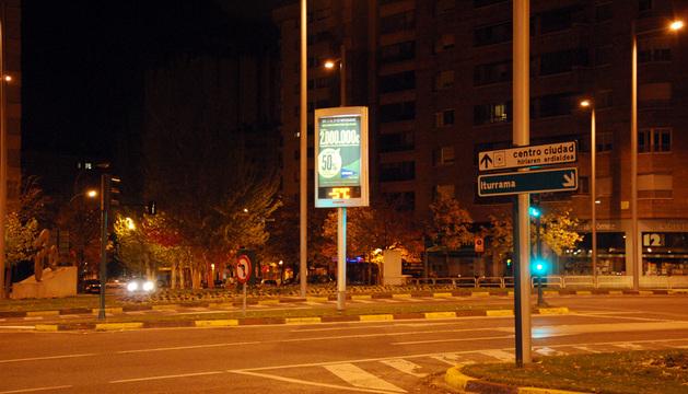 Termómetro de Pamplona en la avenida Pío XII.